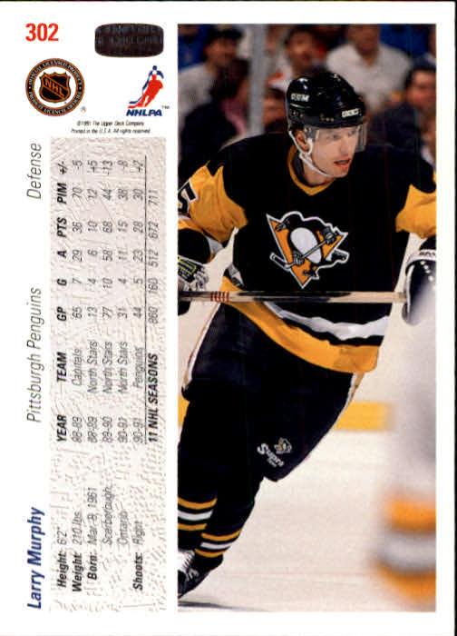 1991-92 Upper Deck #302 Larry Murphy back image