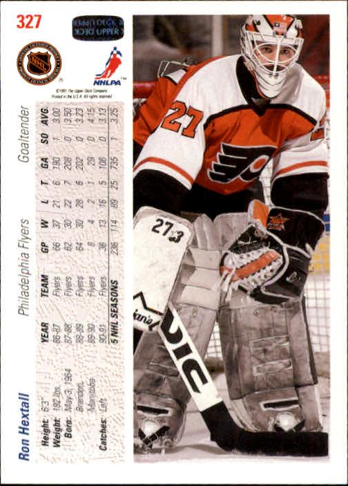 1991-92 Upper Deck #327 Ron Hextall back image