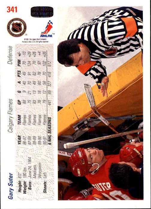 1991-92 Upper Deck #341 Gary Suter back image