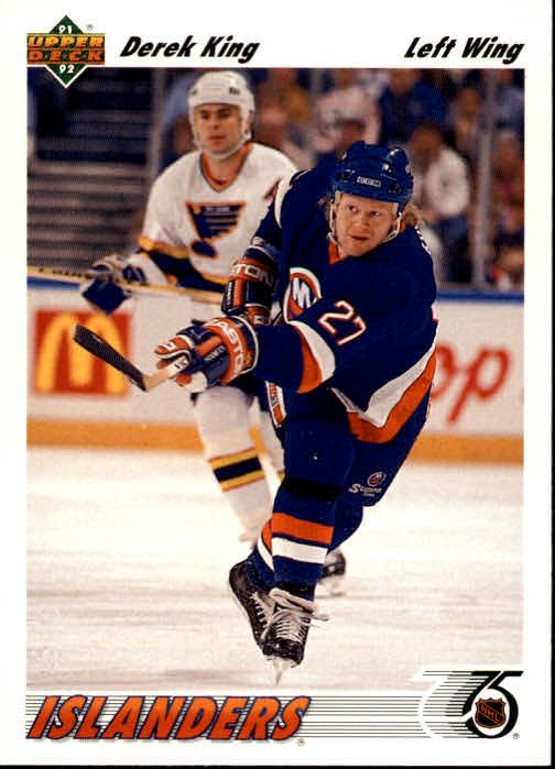 1991-92 Upper Deck #382 Derek King