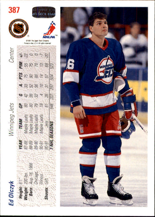 1991-92 Upper Deck #387 Ed Olczyk back image