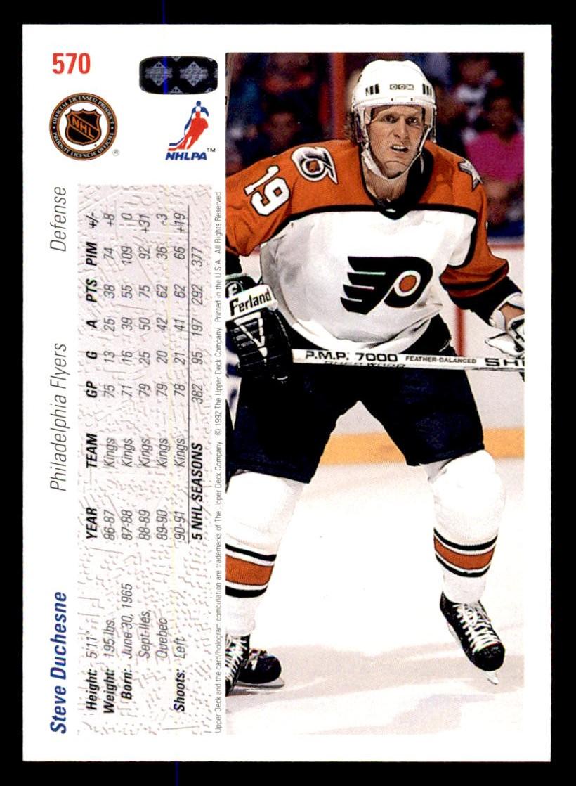 1991-92 Upper Deck #570 Steve Duchesne back image