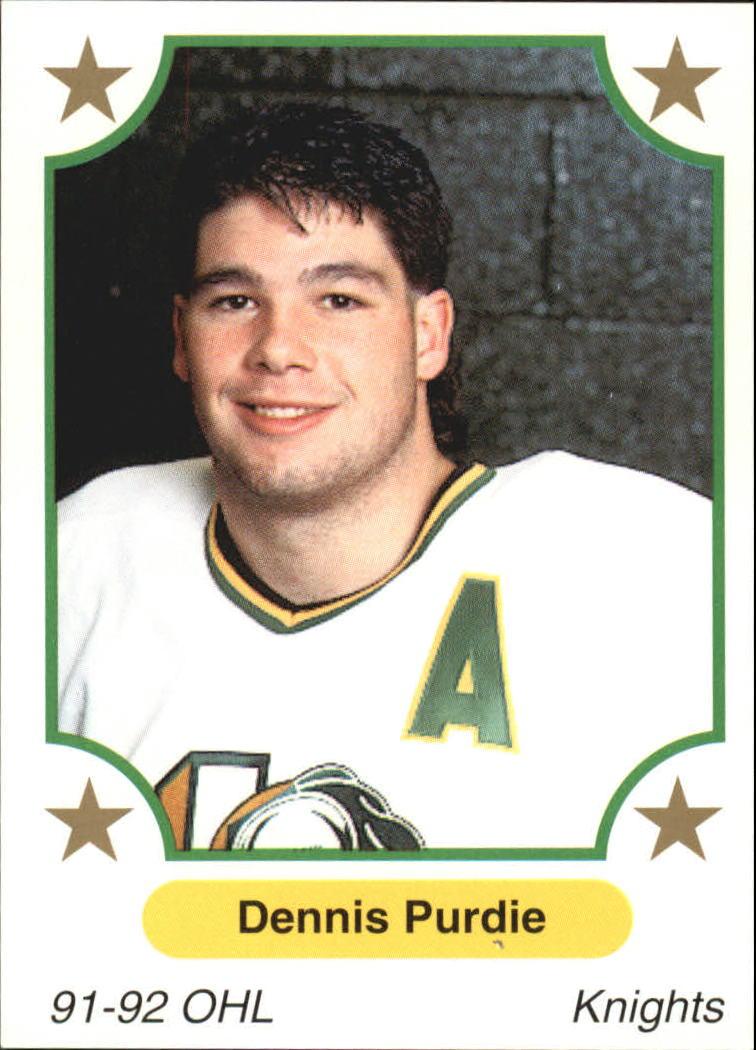 OHL,CHL 1991-92 7th Inning Sketch OHL      362 - Dennis Purdie