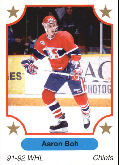 1991-92 7th Innning Sketch WHL #16 Aaron Boh