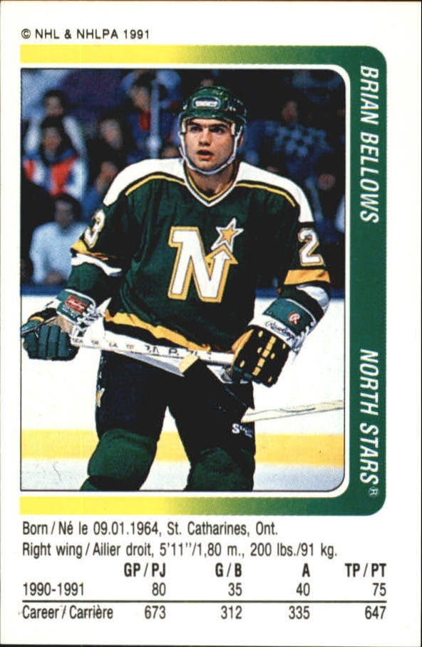 1991-92 Panini Stickers #108 Brian Bellows