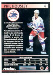 1991-92 Pinnacle French #4 Phil Housley back image