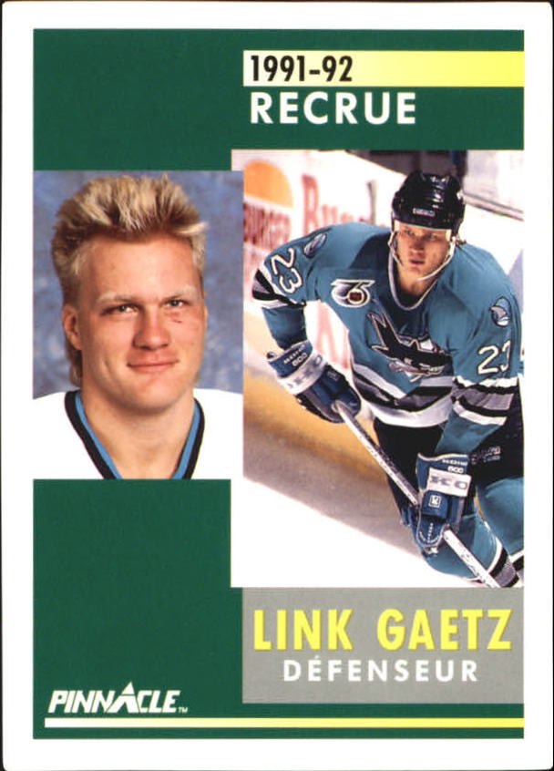 1991-92 Pinnacle French #339 Link Gaetz