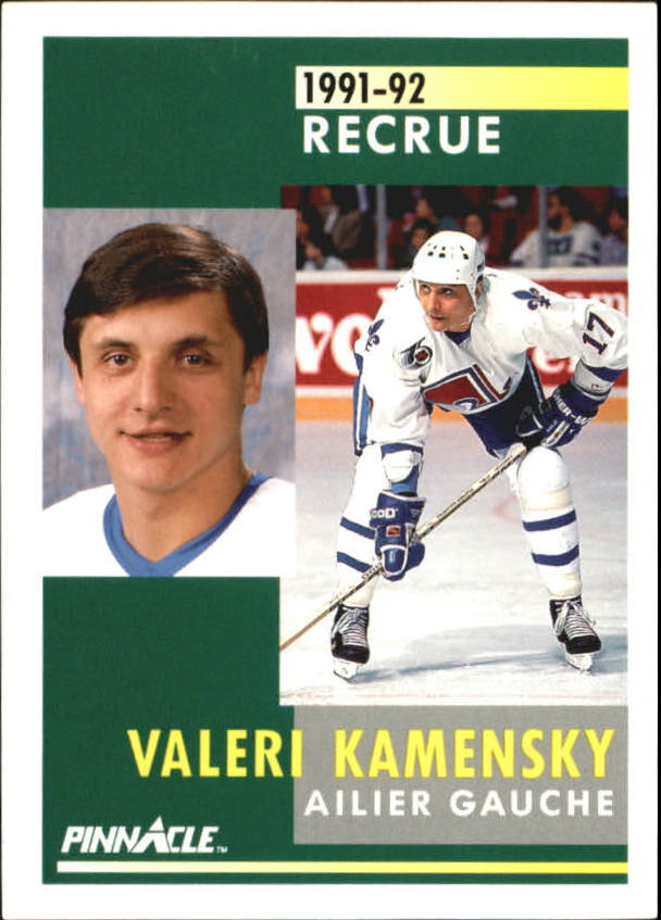 1991-92 Pinnacle French #340 Valeri Kamensky RC