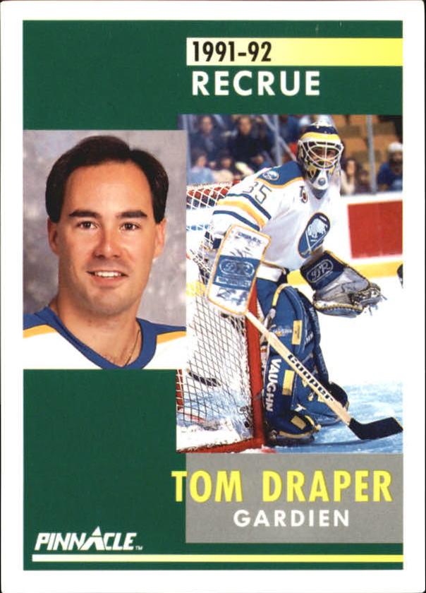 1991-92 Pinnacle French #341 Tom Draper RC