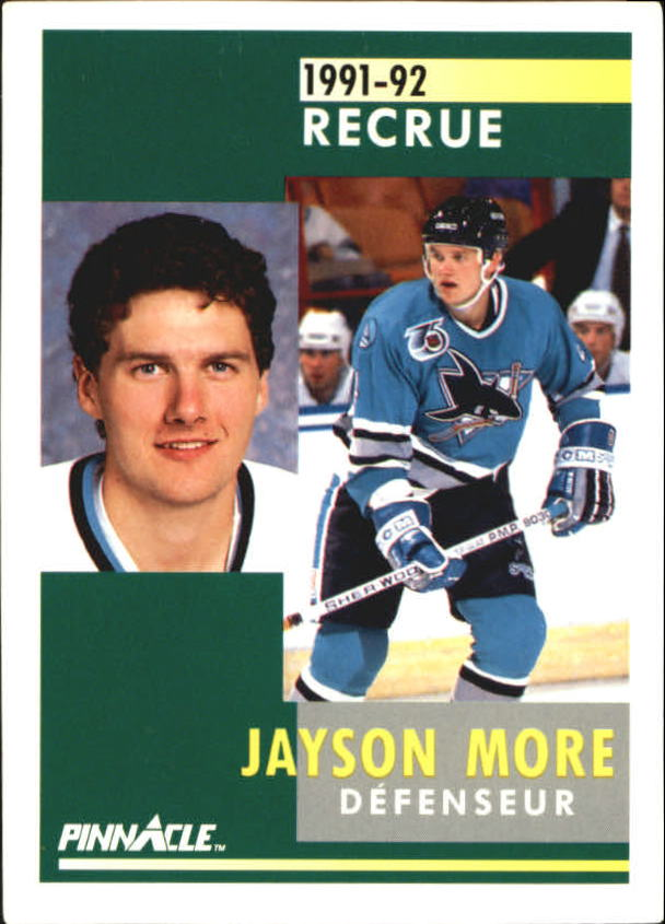 1991-92 Pinnacle French #342 Jay More RC