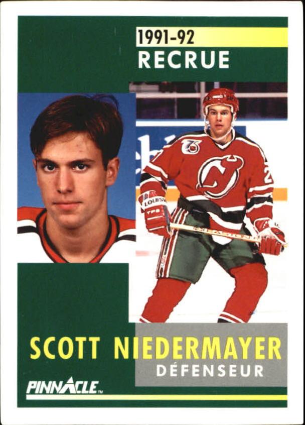 1991-92 Pinnacle French #349 Scott Niedermayer