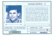 1991-92 Pinnacle French #378 Adam Oates TECH back image