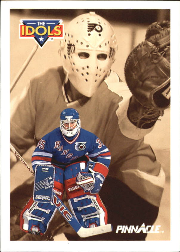 1991-92 Pinnacle French #384 Mike Richter IDOL/(Bernie Parent)