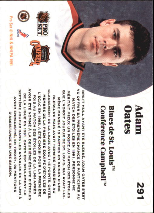 1991-92 Pro Set French #291 Adam Oates AS back image
