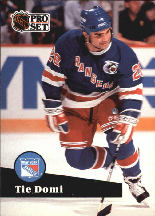 1991-92 Pro Set French #440 Tie Domi