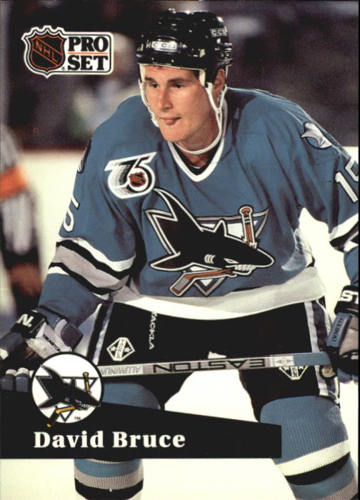 1991-92 Pro Set French #485 David Bruce RC