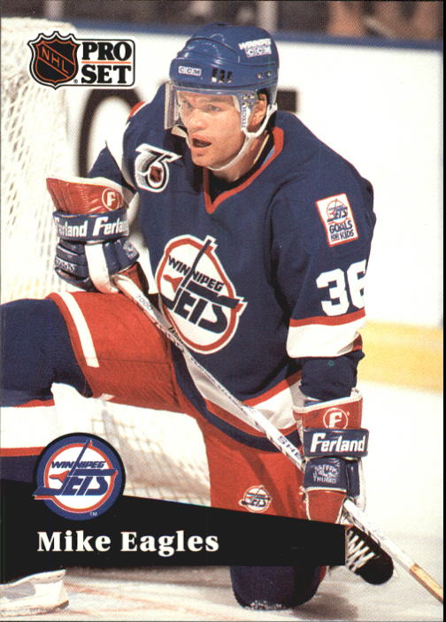 1991-92 Pro Set French #518 Mike Eagles