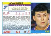 1991-92 Score Canadian English #458 Adam Oates back image