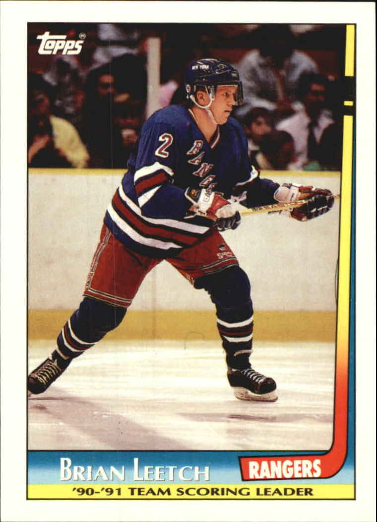 1991-92 Topps Team Scoring Leaders #4 Brian Leetch