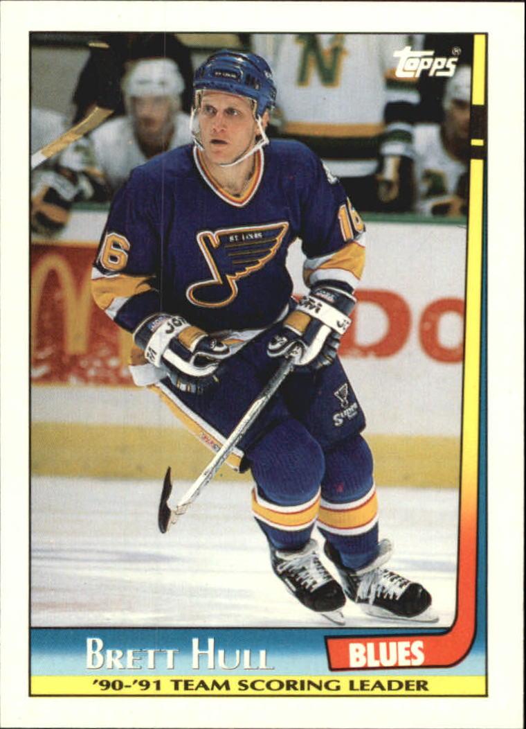 1991-92 Topps Team Scoring Leaders #20 Brett Hull