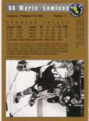 1992 Classic #66 Mario Lemieux FLB back image