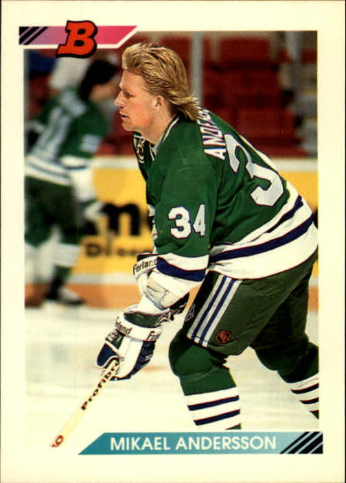 1992-93 Bowman #158 Mikael Andersson