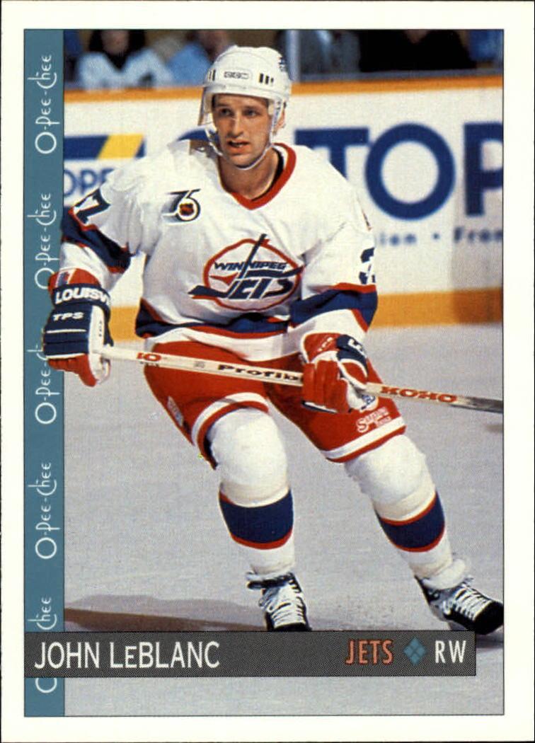 1992-93 O-Pee-Chee #287 John LeBlanc RC