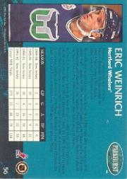 1992-93 Parkhurst #56 Eric Weinrich back image
