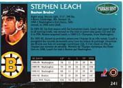 1992-93 Parkhurst #241 Stephen Leach back image