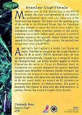 1992-93 Parkhurst Emerald Ice #510 Patrick Roy SCP back image