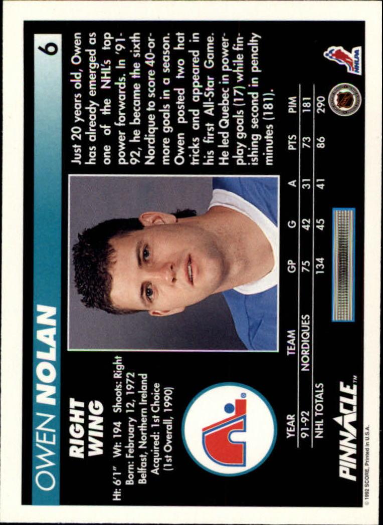 1992-93-Pinnacle-American-HK-039-s-1-210-You-Pick-Buy-10-cards-FREE-SHIP miniature 13