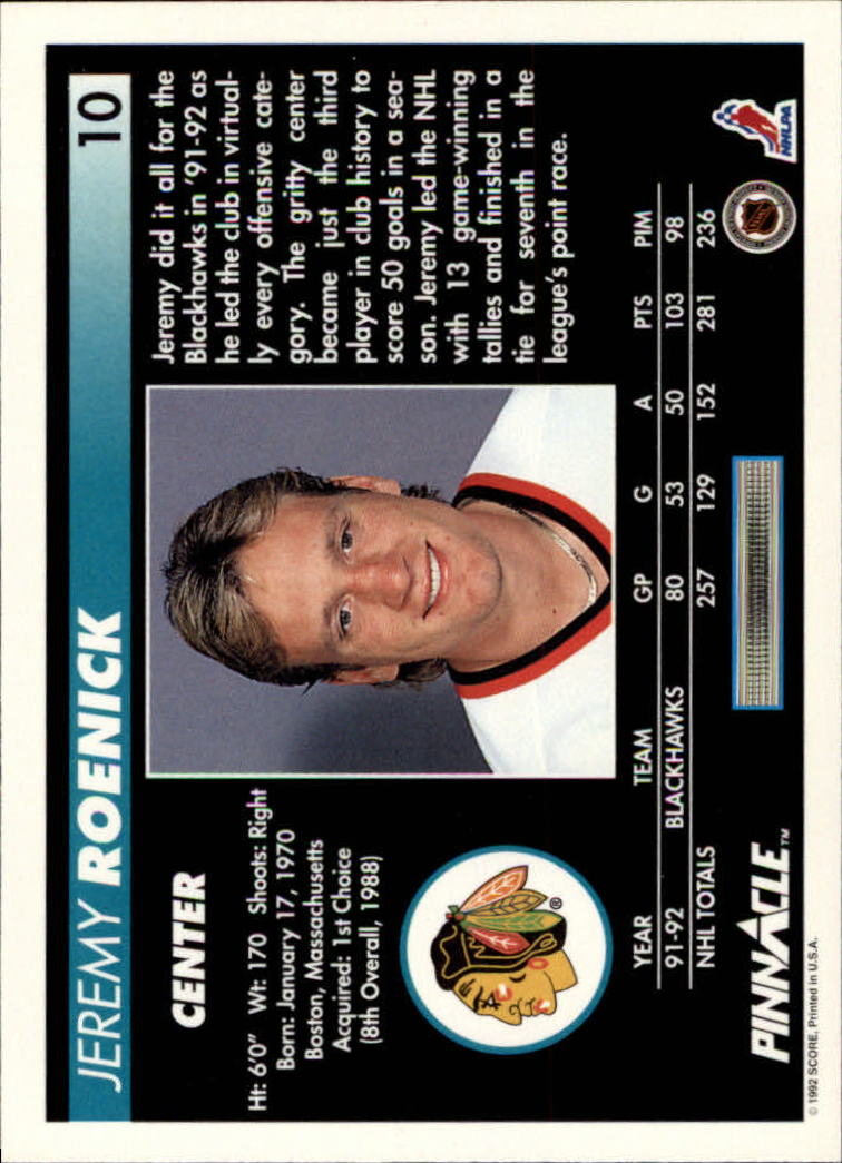 1992-93-Pinnacle-American-HK-039-s-1-210-You-Pick-Buy-10-cards-FREE-SHIP miniature 21