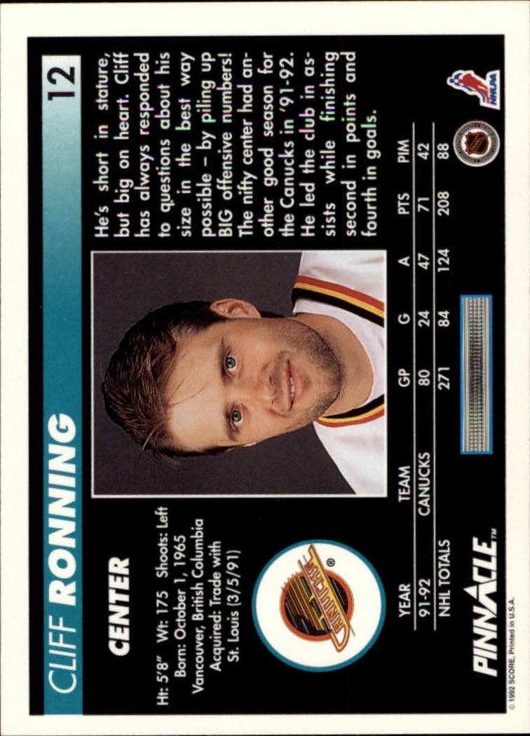 1992-93-Pinnacle-American-HK-039-s-1-210-You-Pick-Buy-10-cards-FREE-SHIP miniature 25