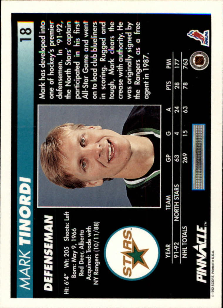 1992-93-Pinnacle-American-HK-039-s-1-210-You-Pick-Buy-10-cards-FREE-SHIP miniature 37