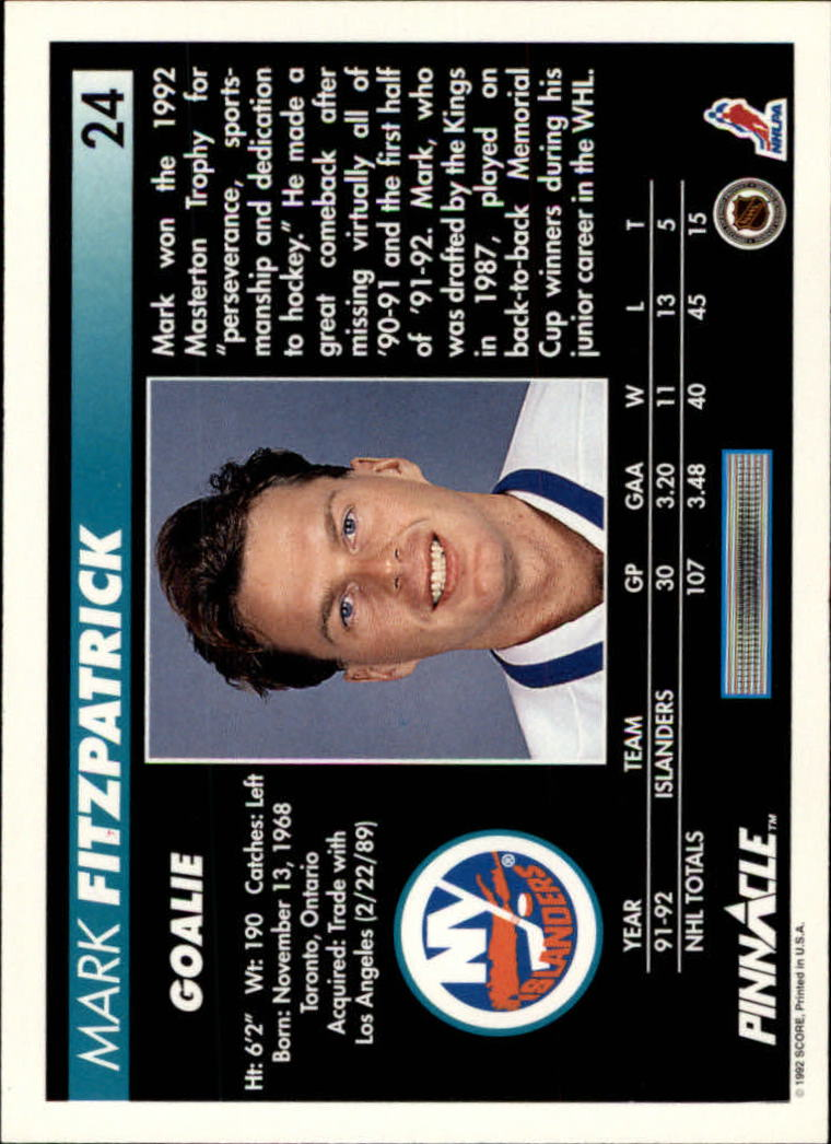 1992-93-Pinnacle-American-HK-039-s-1-210-You-Pick-Buy-10-cards-FREE-SHIP miniature 49