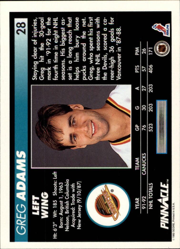 1992-93-Pinnacle-American-HK-039-s-1-210-You-Pick-Buy-10-cards-FREE-SHIP miniature 57