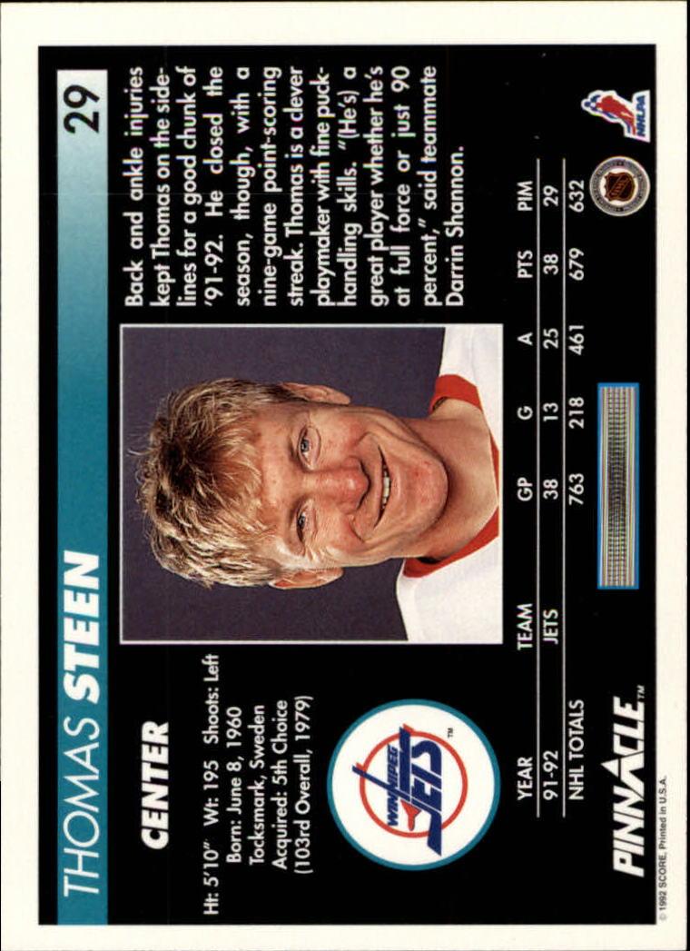 1992-93-Pinnacle-American-HK-039-s-1-210-You-Pick-Buy-10-cards-FREE-SHIP miniature 59
