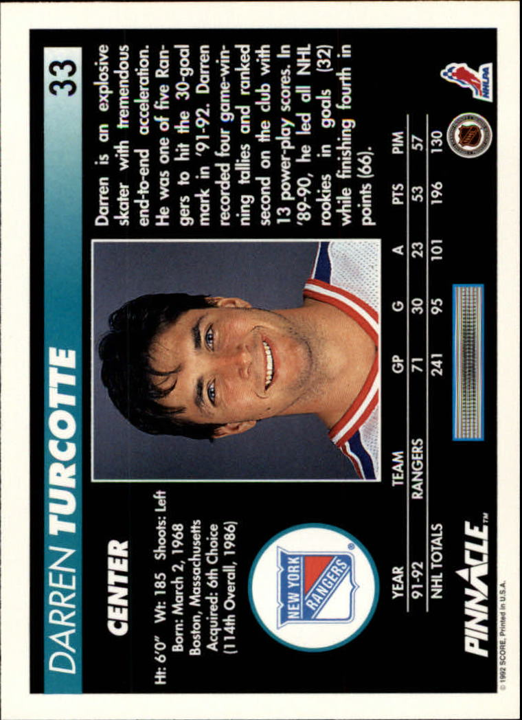1992-93-Pinnacle-American-HK-039-s-1-210-You-Pick-Buy-10-cards-FREE-SHIP miniature 67