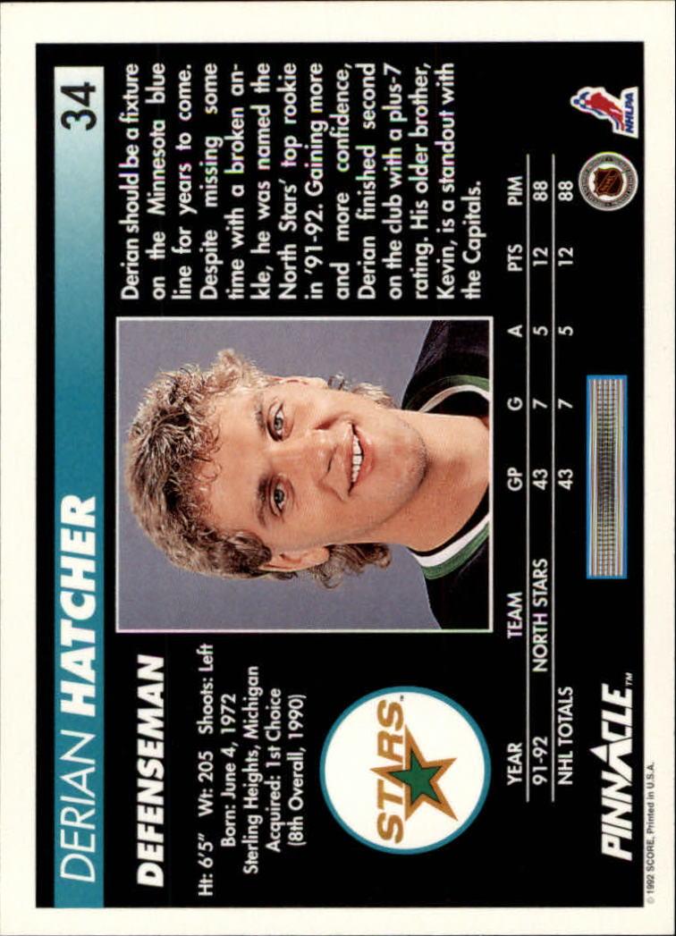 1992-93-Pinnacle-American-HK-039-s-1-210-You-Pick-Buy-10-cards-FREE-SHIP miniature 69