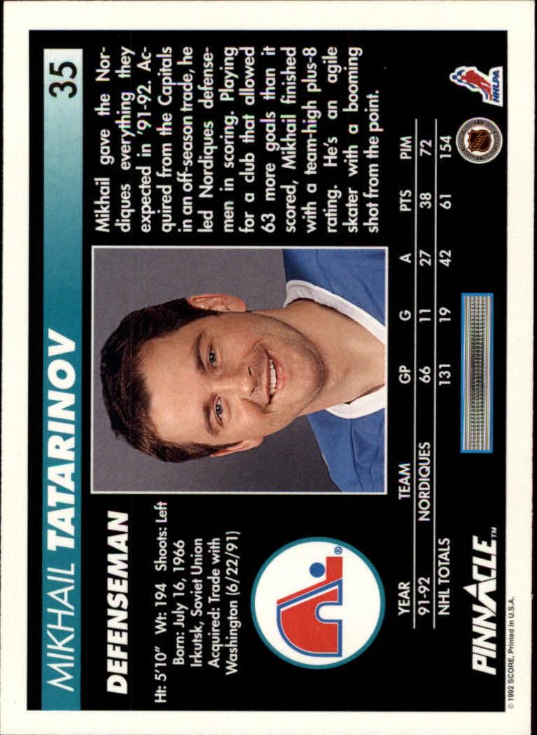 1992-93-Pinnacle-American-HK-039-s-1-210-You-Pick-Buy-10-cards-FREE-SHIP miniature 71