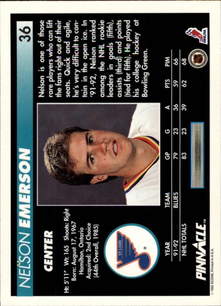 1992-93-Pinnacle-American-HK-039-s-1-210-You-Pick-Buy-10-cards-FREE-SHIP miniature 73