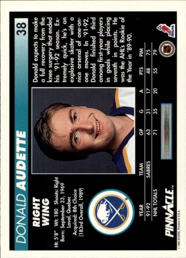 1992-93-Pinnacle-American-HK-039-s-1-210-You-Pick-Buy-10-cards-FREE-SHIP miniature 77