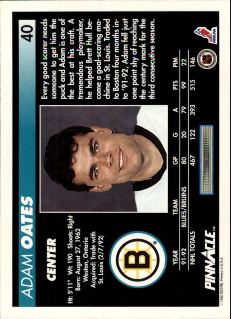 1992-93-Pinnacle-American-HK-039-s-1-210-You-Pick-Buy-10-cards-FREE-SHIP miniature 81