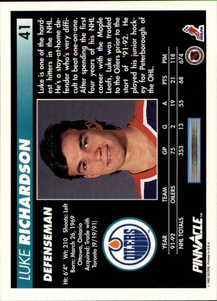 1992-93-Pinnacle-American-HK-039-s-1-210-You-Pick-Buy-10-cards-FREE-SHIP miniature 83