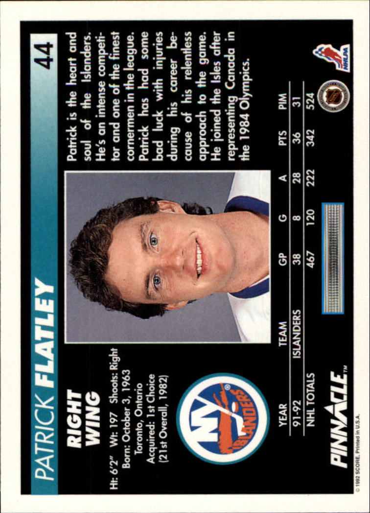 1992-93-Pinnacle-American-HK-039-s-1-210-You-Pick-Buy-10-cards-FREE-SHIP miniature 89