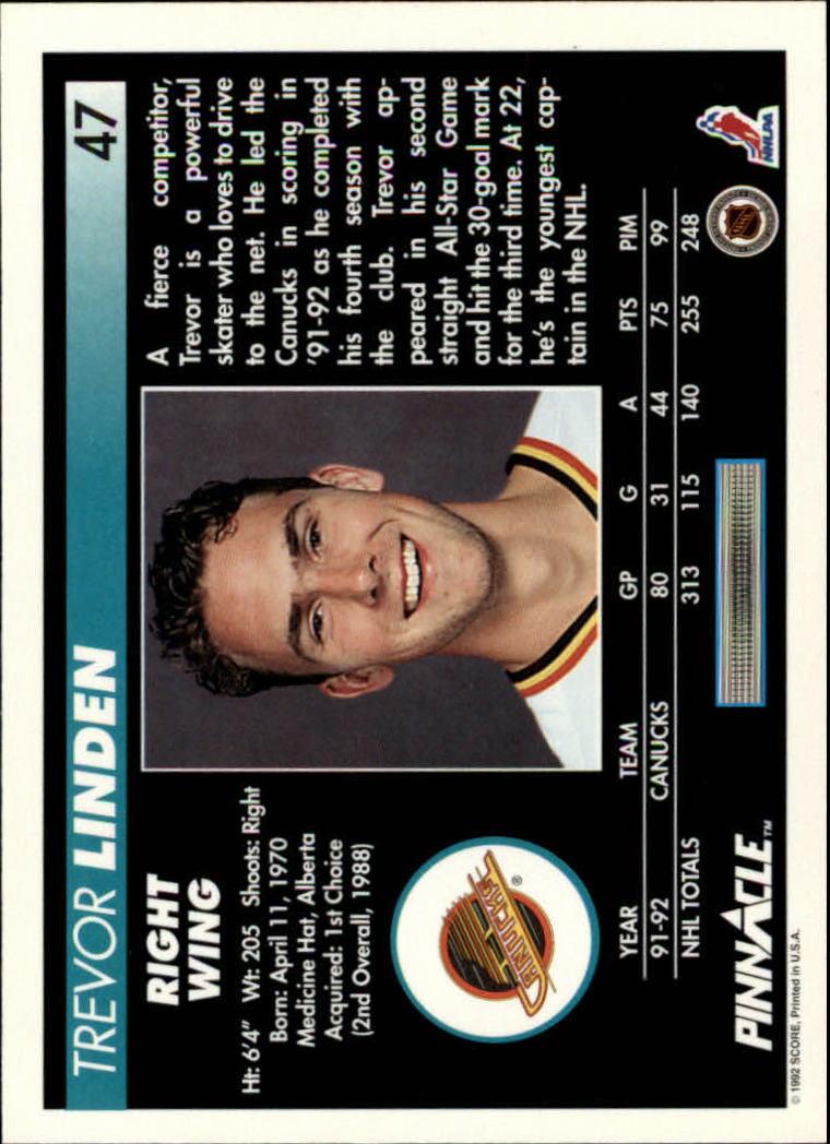 1992-93-Pinnacle-American-HK-039-s-1-210-You-Pick-Buy-10-cards-FREE-SHIP miniature 95