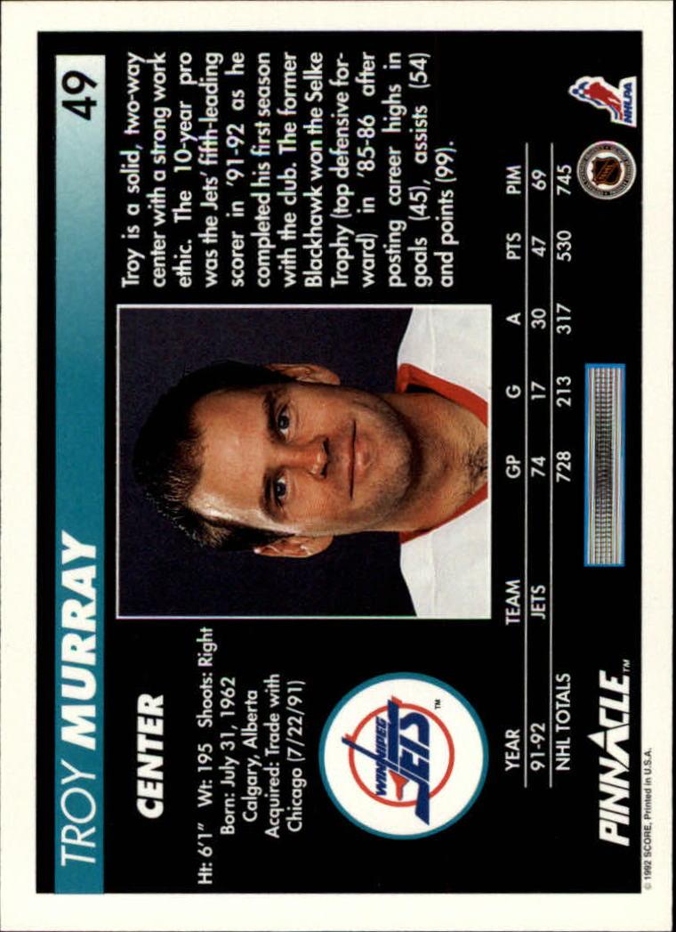1992-93-Pinnacle-American-HK-039-s-1-210-You-Pick-Buy-10-cards-FREE-SHIP miniature 99