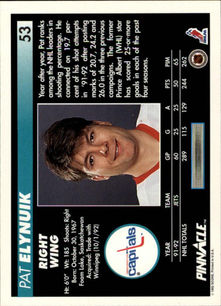 1992-93-Pinnacle-American-HK-039-s-1-210-You-Pick-Buy-10-cards-FREE-SHIP miniature 107