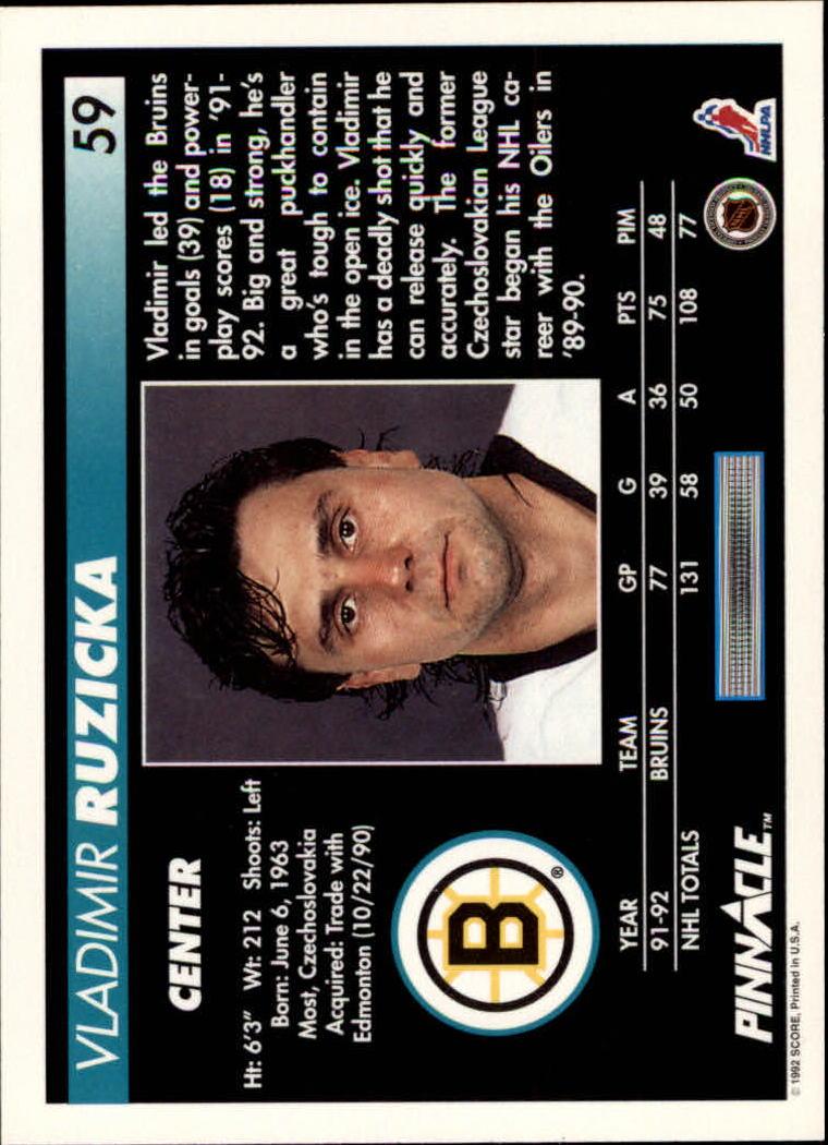 1992-93-Pinnacle-American-HK-039-s-1-210-You-Pick-Buy-10-cards-FREE-SHIP miniature 119
