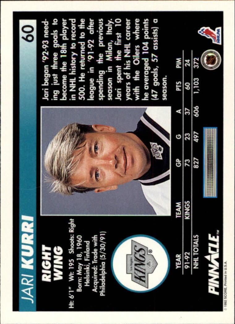 1992-93-Pinnacle-American-HK-039-s-1-210-You-Pick-Buy-10-cards-FREE-SHIP miniature 121